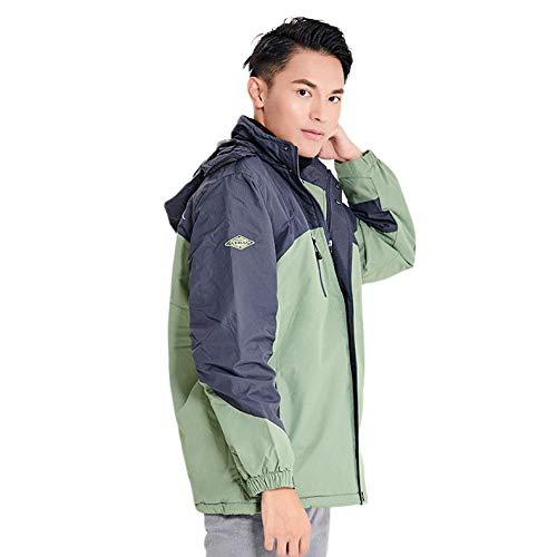 AUED Costume chauffée, Intelligent vêtements Chauffage Alpinisme Chaud Coton d'hiver Costume USB de Charge Veste Coupe-Vent, Couple Hommes Femmes,D,XL