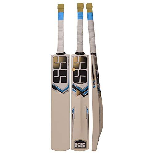 S+S SS Cricketschläger aus Kashmir-Weidenleder für Erwachsene, volle Größe, mit vollständiger Schutzabdeckung, Short Handel 2019 Serie, Club Vellum