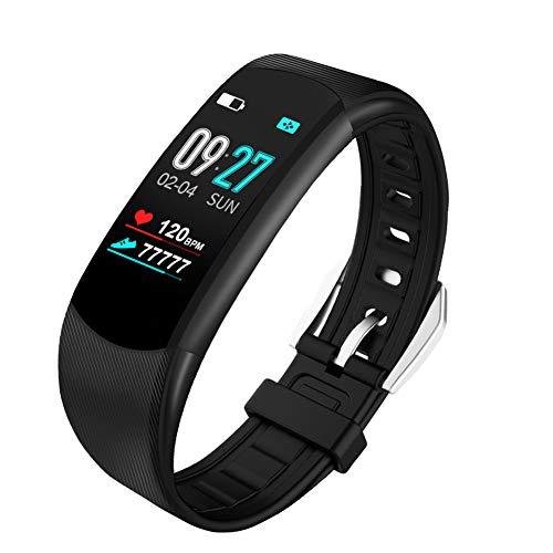 Pc-Hxl Fitnessarmband, bluetooth-koptelefoon, intelligente stappenteller, armband met kleurenbeeldscherm, hartslagmeter, fitnesstracker, activiteitstracker, muziek afspelen, spraakbesturing, armband voor Android en iOS
