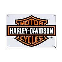 アルミロゴ Harley-Davidson レトロメタル アルミロゴ レトロアルミ ヴィンテージメタリックのロゴ ヴィンテージアルミメタリック 看板壁のアートポスターのガレージビールカフェバークラブホーム装飾 ロゴホームコーヒーウォールに30×20cmの装飾