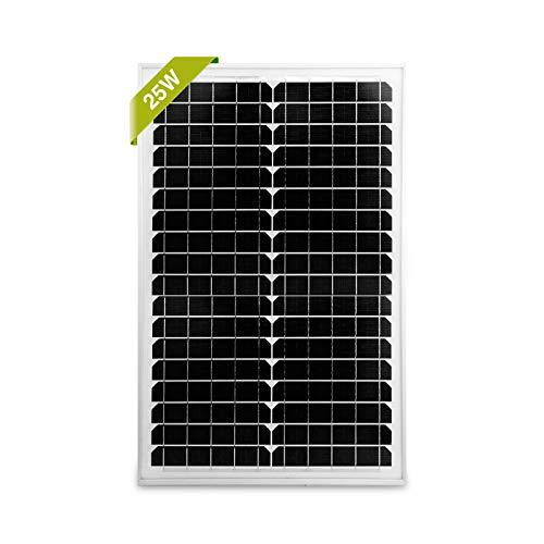 Newpowa - Modulo solare mono, 25 W, 12 V, 20 W, 25 W, 30 W, RV, barche e griglia