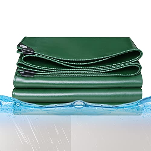 GDMING Tarea Pesada Lona Alquitranada, PVC Retardante De Llama Paño Ignífugo, Impermeable Cubierta Exterior con Ojales por Jardín Fábrica Impermeable, 10 Tamaños (Color : Green, Size : 2x5m)