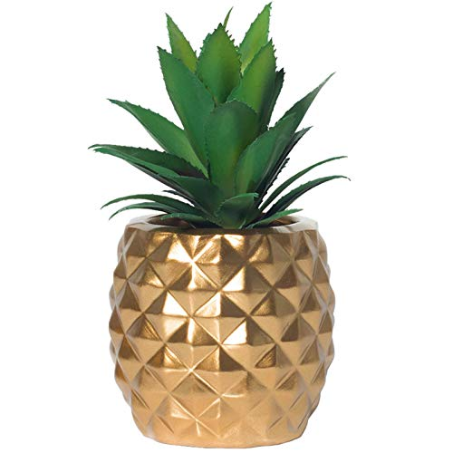 BLASCOOL Artificial Potted Succulent Plants Set, Faux Succulents in Pots Home Decor (Gold