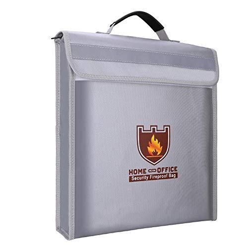 Feuer-Wasser-Safe Storage Bag Wasserdicht Feuerbeständige Dokument Taschen Halter für MoneyDocument, Schmuck Pass Laptop,Silber