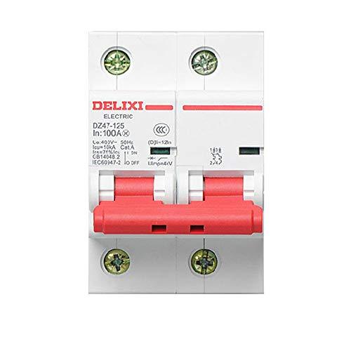 OIASD Interruptor de Aire eléctrico monofásico DZ47 2P 100A 80A 125A Interruptor de Aire Abierto en el hogar Desconexión de Baja tensión, 80A