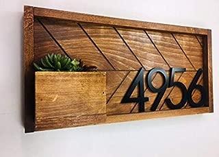 House Number Plaque, Address Plaque, House Numbers, Address Numbers, Mailbox, House Number Planter, House Number Sign, Address Sign, Planter