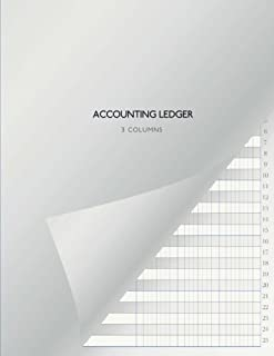 Accounting Ledger - 3 Columns: US Letter Format (8,5
