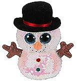 TY– Flippables Small-Peluche de Lentejuelas Melty con muñeco de Nieve 15 cm, TY36339 Multicolor...