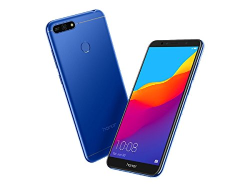 """Honor 7A - Smartphone con Pantalla de 5.7"""" (4G, Octa Core, cámara 13 MP y Frontal 8 MP, 2 GB de RAM, 16 GB de ROM, reconocimiento Facial, Lector de Huellas, Android), Azul"""