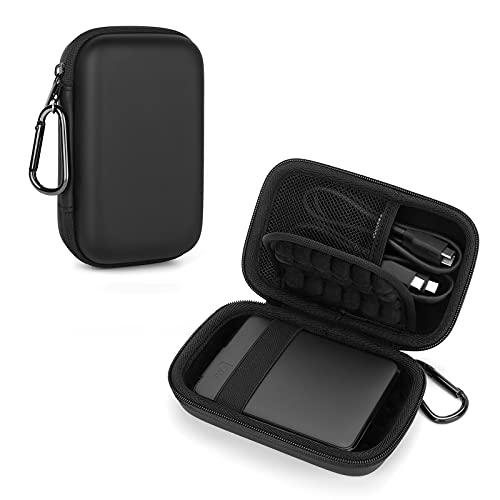 Custodia per Hard Disk Esterno Western Digital WD Elements / TOSHIBA Canvio Basics / Seagate HDD Case, Memoria Esterna Portatile 2,5 Disco Esterno Protettiva Borsa Antiurto Rigida Cover caso (black)