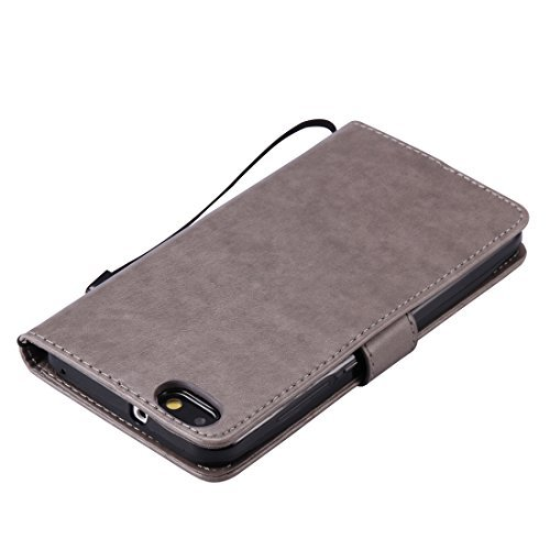 Nancen Compatible with Handyhülle Huawei Honor 4X (5,5 Zoll) Flip Schutzhülle Zubehör Lederhülle mit Silikon Back Cover PU Leder Handytasche im Bookstyle Stand Funktion Kartenfächer - 5