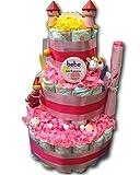 Tarta de pañales mágica para pañales, rosa caballero y princesa para niñas,...