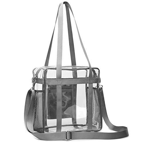 SPEEDEVE Transparent Handtasche wasserdichte Umhängetasche für Männer und Frauen,Grau