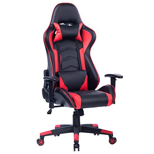 RADSGFTJGYH Gaming Stuhl Office Recliner Chair, ergonomischer Schreibtischstuhl Big and Tall Gaming Armchair, schwarz rot