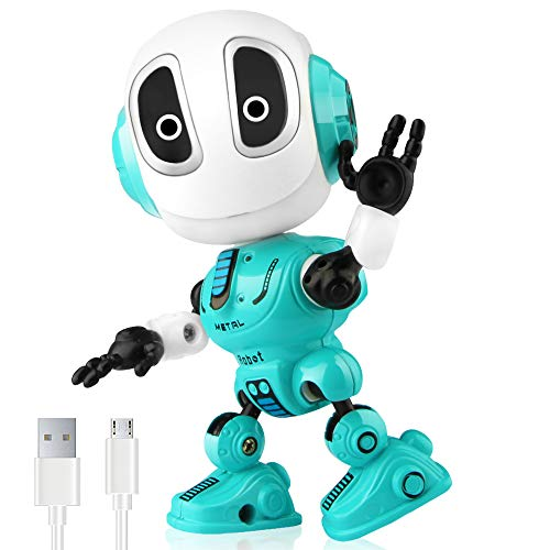 Betheaces Rechargeable Talking Robots Toys for Kids - Metal Robot Kit with...