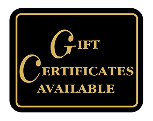 Gift CERTIFICATES Available - Retail Store Merchandise Business Sign - Durable Plastic 7�x 5,5� Store Sign - Boost Sales with Attractive and Elegant Display Signs - Promote Business at Retail Stores