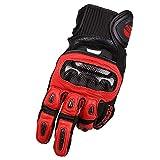 YABAISHI Dito in fibra di carbonio for moto completa Glovesfor motocicletta in bicicletta da corsa Escursioni (Color : Red)
