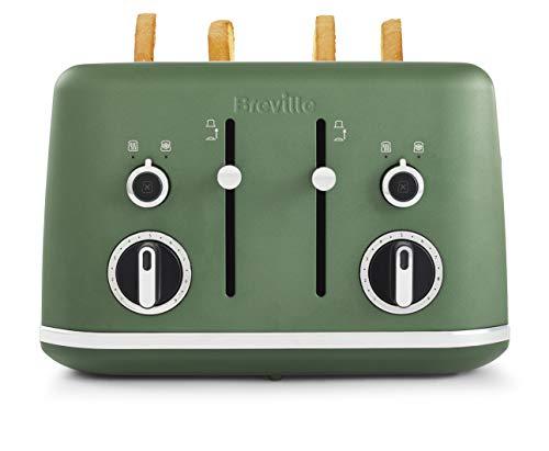 Breville Lustra 4-Slice Toaster Matt Forest Green [VTT992]