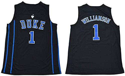 D&L Basketball Jersey 1# Zion Williamson Duke University gestickter Basketball Jersey 90S Hip Hop Kleidung for Partei (Color : Black, Size : Small)