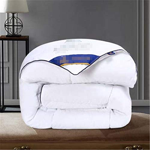 Laoling Goose Down Duvet Quilted Warm And Comfortable Cotton Quilt Full Size Comforter Winter Thick Blanket Solid Color White 200x230cm 4000g