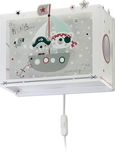 Dalber The Wandlamp voor kinderen, piraten, 60 W, meerkleurig