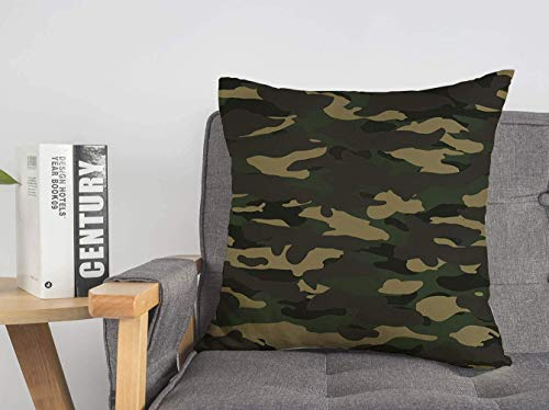 LREFON 18' 2pcs Square Throw Pillowslip Textile Navy Wide Combat Fashion Color Woodland Camo Abstract Camoflauge Clo Soft Skin-Friendly Pillowcase for Couch Sofa