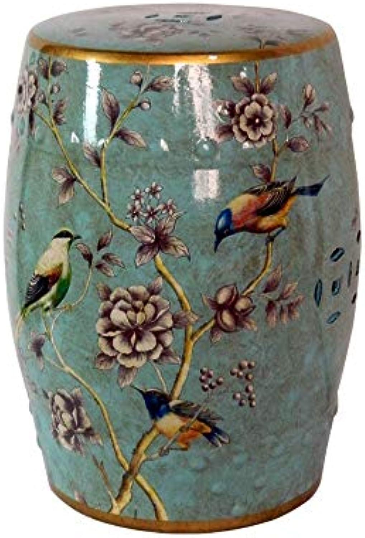 YQS Europische Klassische Fuschemel Schminktisch Blaumengarten Dekorative Blaumen- Und Vogeldesigns Art & Crafts