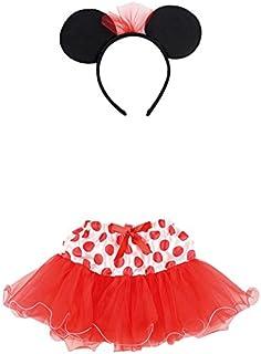 7a45b94a3 Carnival Toys 6673 – Juego Disfraz, Minnie Mouse niña con falda y diadema