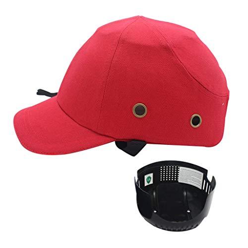 HARDHAT Bauhelm, Atmungsaktiver Helm. PP-Futter Im Baseball-Stil, Baumwollgewebe + ABS-Innenschale, Mit Belüftungslöchern, 3 Ausführungen.