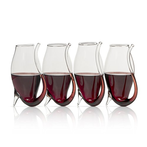 "Wine Savant Elegant, Port Wine Glasses Port Sipper Glasses Set of 4 3.5""H"