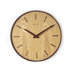 ZIZOI Wall Clock for Home Decor Japanese Wall Clock, Solid Wood Living Room, Silent Clock, Modern Minimalist, Japanese Quartz Clock, Creative Wall Decoration