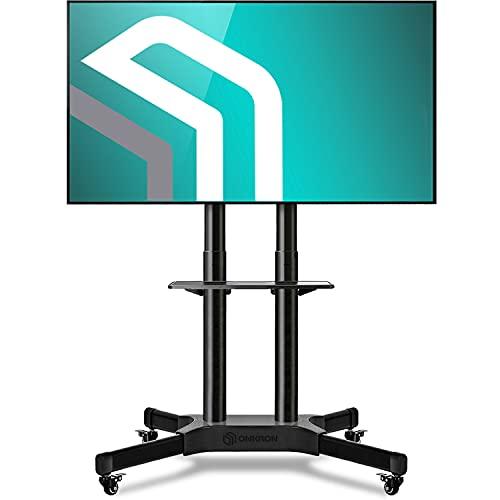 ONKRON TS1351 Soporte básico con ruedas para TV de tamaño medio con la pantalla diagonal 40' - 65' pulgadas orificios de montaje máx 600 x 400 mm carga máx de hasta 45 kg
