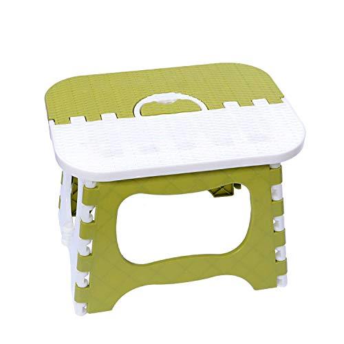 トレードワン 踏み台 スツール 折りたたみ 踏台 携帯用椅子 収納でき便利 軽量 大人 子供 兼用(一つ) (グリーン)