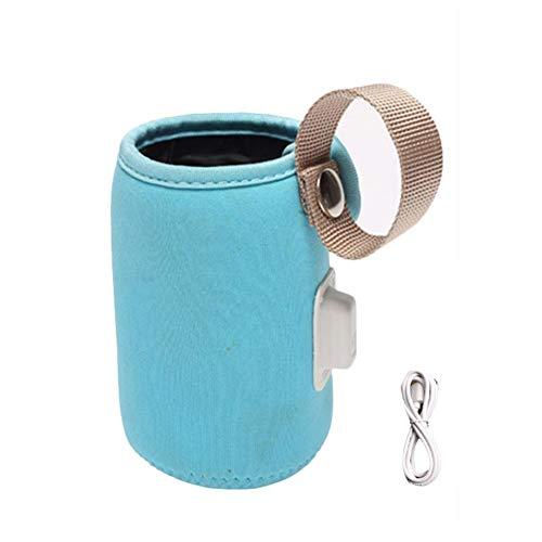 lossomly Thermotasche Flasche Isoliertasche Baby Portable USB Heizung 42°C Konstante Temperatur Umweltfreundlicher Stoff Baby Flasche Kühltasche Für Alle Jahreszeiten, Orange/Blau great gift