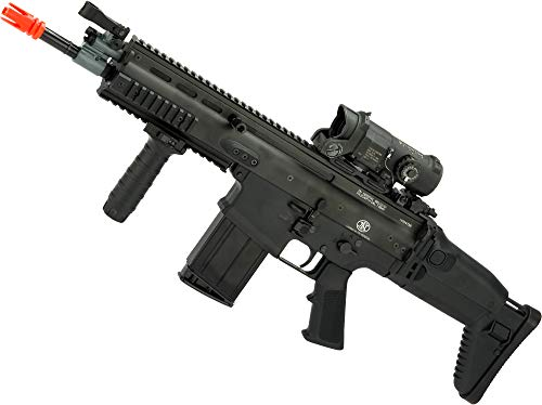 Evike FN Herstal Scar-H CQB Licensed MK17 Gas Blowback Airsoft Rifle by VFC (Color: Black)