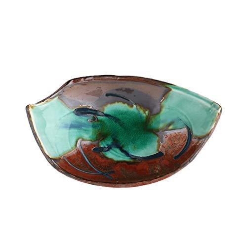 Retro baldosa cerámica Cuchara Desayuno Home Plate Placa Snack-retro estilo japonés de cocina Sushi Plato Restaurante Vajilla (Color : C)