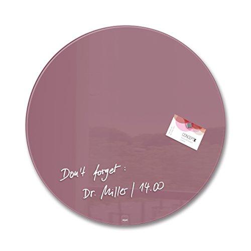 SIGEL GL292 Glas-Magnetboard / Magnettafel Artverum Rot, Kreis Ø 40 cm - weitere Farben/Form