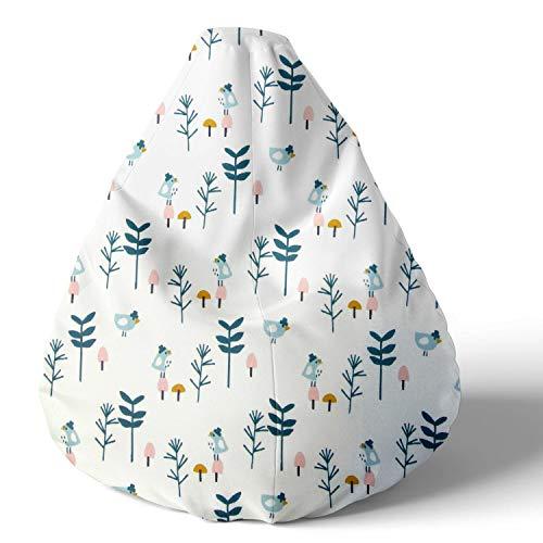 joyfill Sitzsack mit Bezug, Stuhl für Kinder und Erwachsene, Weicher Stoff, 240L (5063 Petrol Canary)