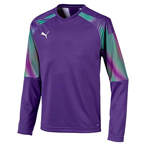 PUMA Uni Torwarttrikot Cup GK Jersey LS Jr, Prism Violet-Bright Green, 128, 703772