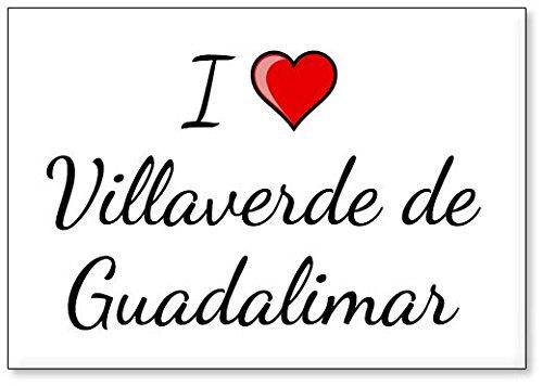 Mundus Souvenirs - Amo Villaverde de Guadalimar, Imán para Nevera (diseño 1)