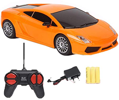Toyify Basic Full Function Remote Control Mini Car with Rechargeable Batteries and Charger with Direct Charging Point Plug and Play RC Toys for Boys (COLOR and MODEL BOTH WILL VARY)