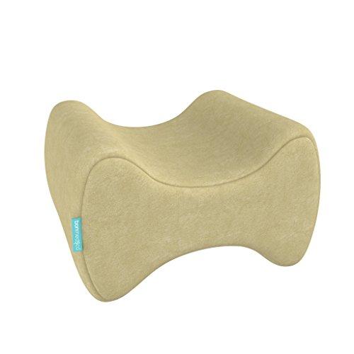 bonmedico ergonomisch kniekussen voor zijslapers, beenkussen met traagschuim, crème
