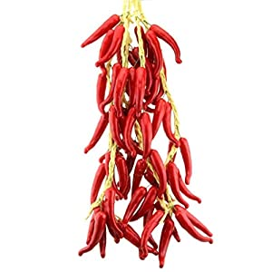 Gresorth Fake Vegetable Bunch Artificial Red Pepper Decoration for Home Kitchen Shop Party Show Food Display