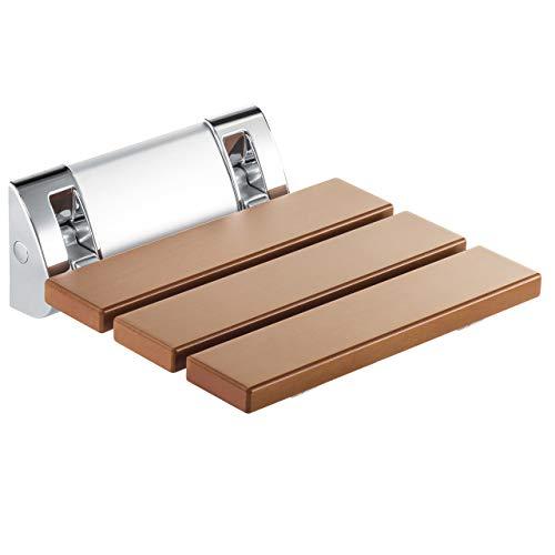 klappbarer Duschsitz Duschhilfe Duschhocker Klappsitz zur Wandmontage aus pflegeleichtem WPC in Holzoptik Größe: 30x30cm