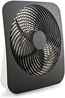 O2COOL Treva 10-Inch Portable Desktop Air Circulation Battery Fan - 2 Cooling Speeds - with AC Adapter