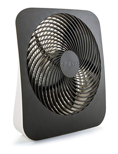 Treva 10-Inch Portable Desktop Air Circulation Battery Fan - 2 Cooling...