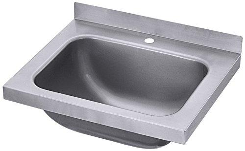 Handwaschbecken aus Edelstahl 18/10, zur Wandmontage / Abm.: 40 x 31 x 14 cm   ERK