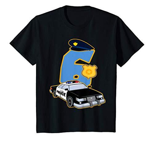 Nios 6 Cumpleaos Polica 6 Aos Disfraz De Coche De Polica Camiseta
