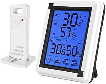 Oria Indoor Outdoor Digital Wireless Thermometer Humidity