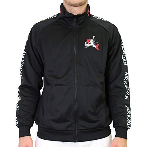 Nike Herren Sport Jacket M J JM CLSCS Tricot Warmup JKT, Black/Gym red/White, L, CT9414